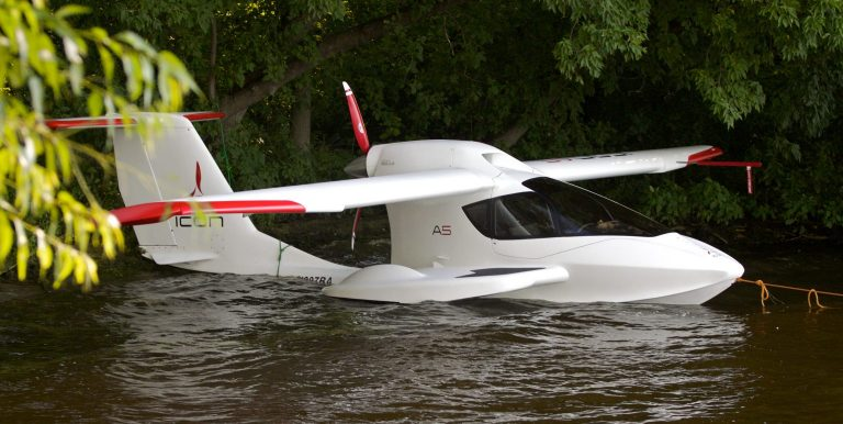 Icon A5 in the water